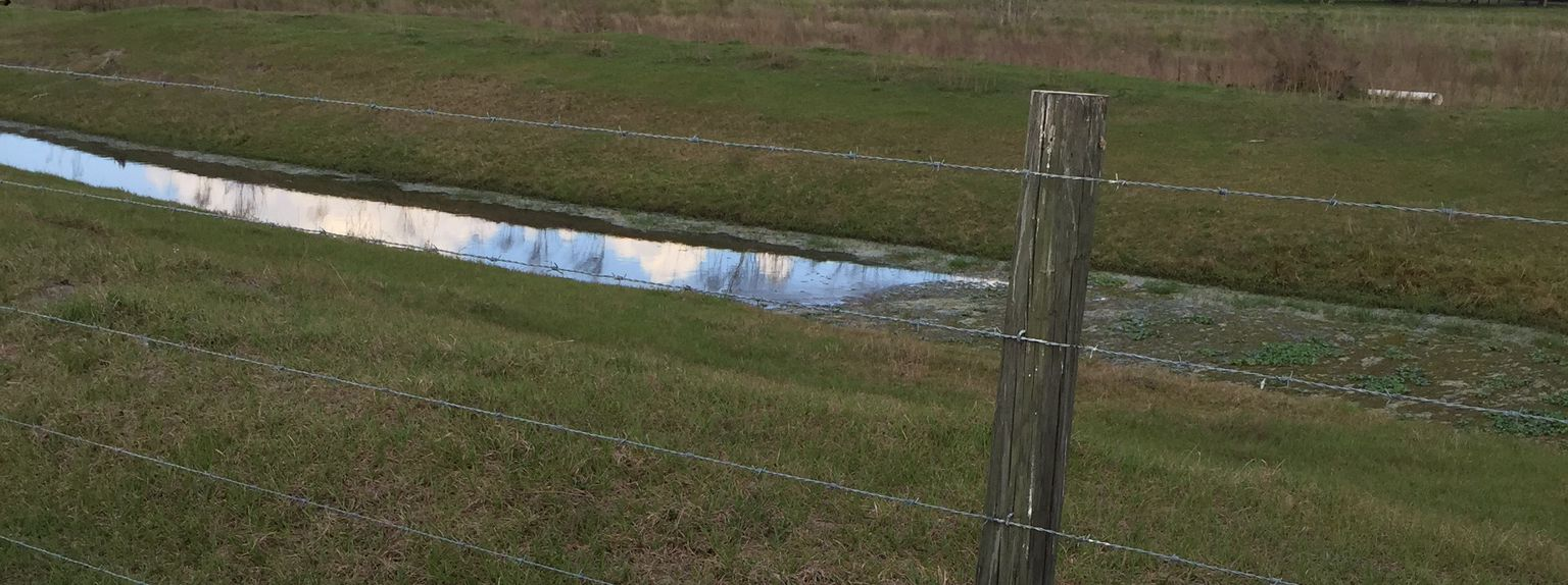 Another photo of a ditch with water.